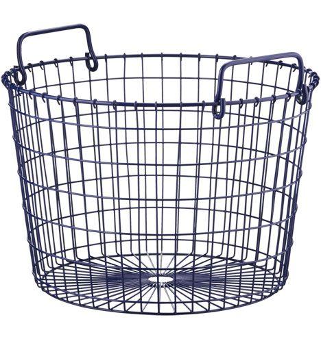Blue Round Wire Basket Friendly Finds Pinterest