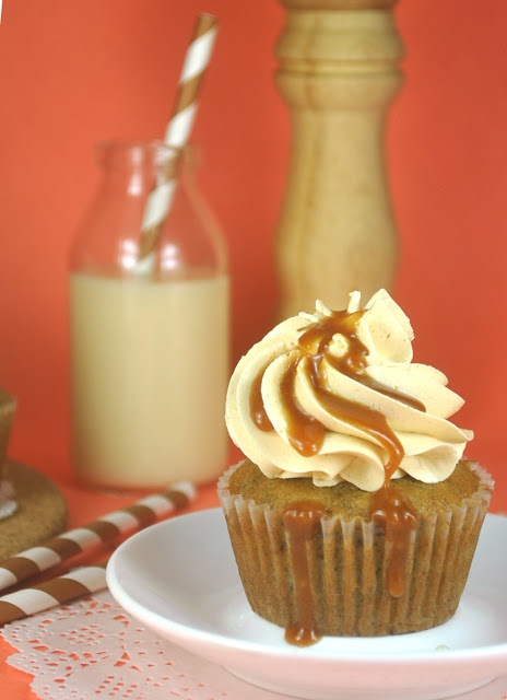 Caramelized Banana And Nutella Cupcakes Recipe — Dishmaps