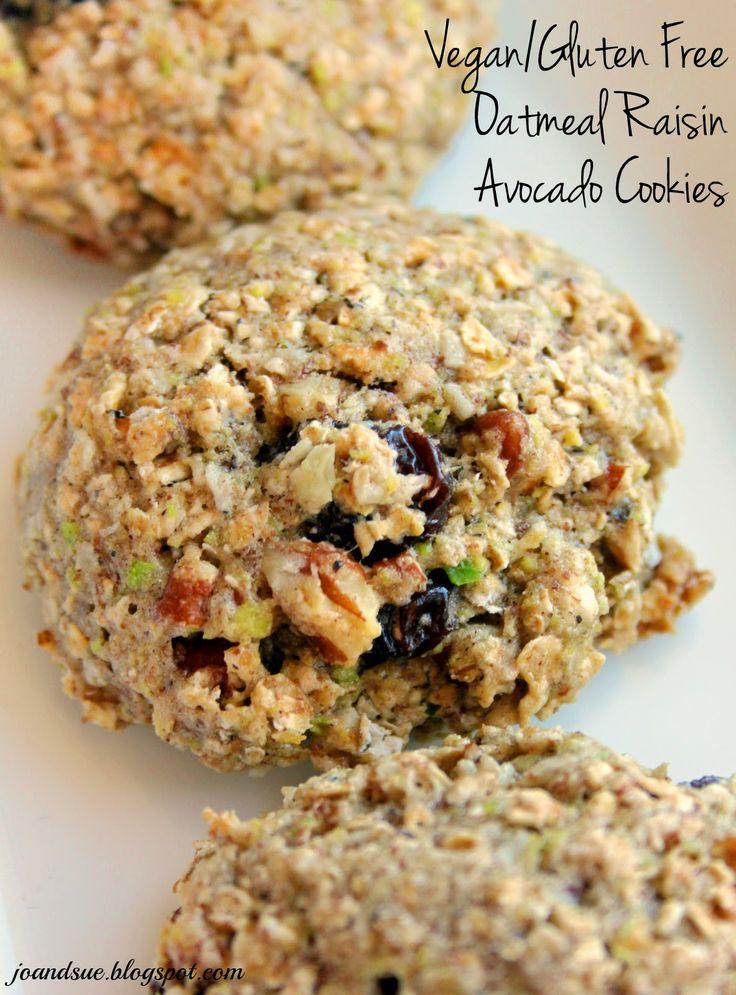 Jo and Sue: Vegan Gluten Free Oatmeal Raisin Avocado Cookies