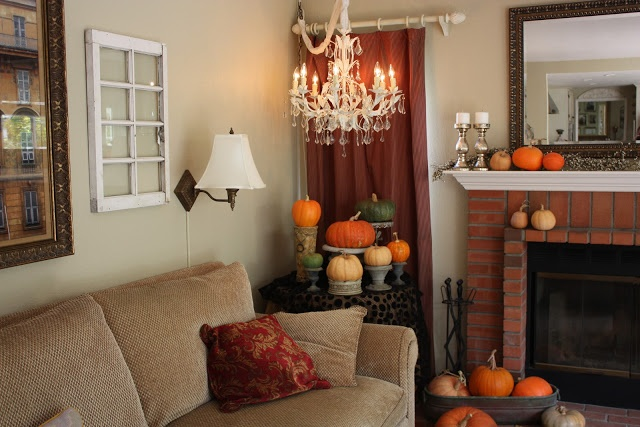 Fall Living Room Decor Autumn Pinterest