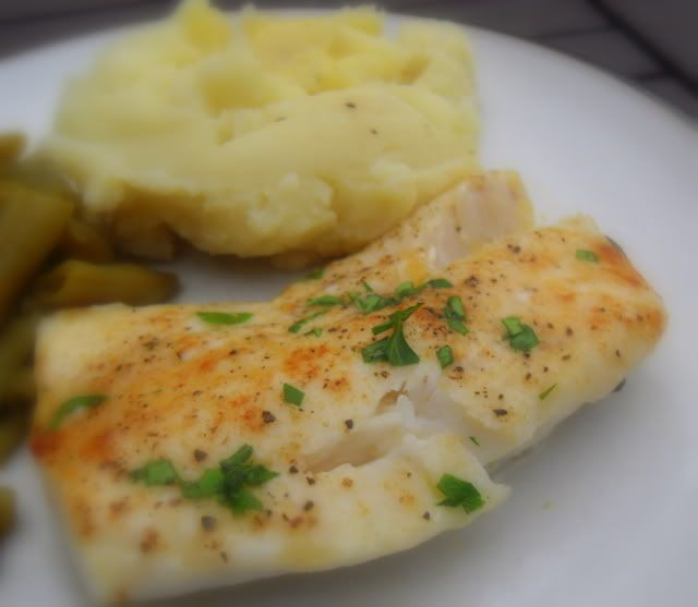 The english kitchen butter baked cod nom pinterest for How to bake cod fish in the oven