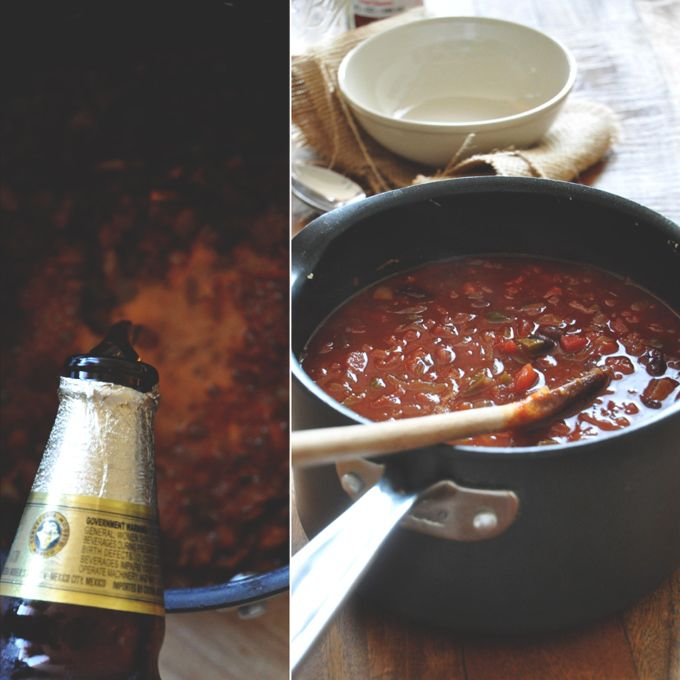 Vegan Beer Chili! easy and delicious (other recipes on this site look ...
