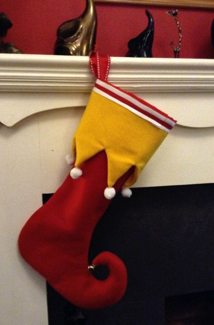 Elf Christmas Stocking | Christmas Stuff | Pinterest