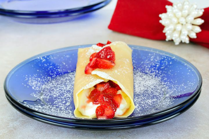 Crepes with Ricotta & Berries sugar free | Recipe