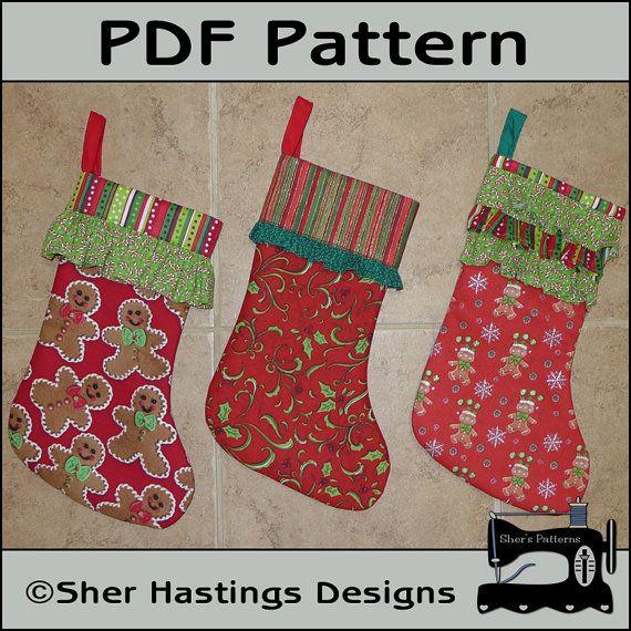 Pattern for ruffled cuff christmas stocking christmas stocking