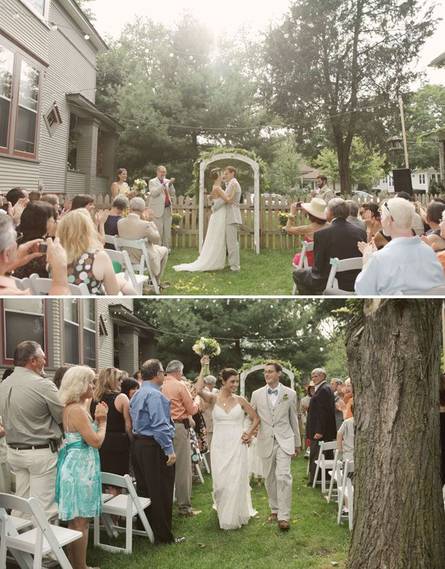 Real Wedding Denise + Dave?s Sweet Backyard Wedding