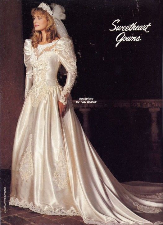 I would love to wear this love this 1980 39 s wedding for I love wedding dresses