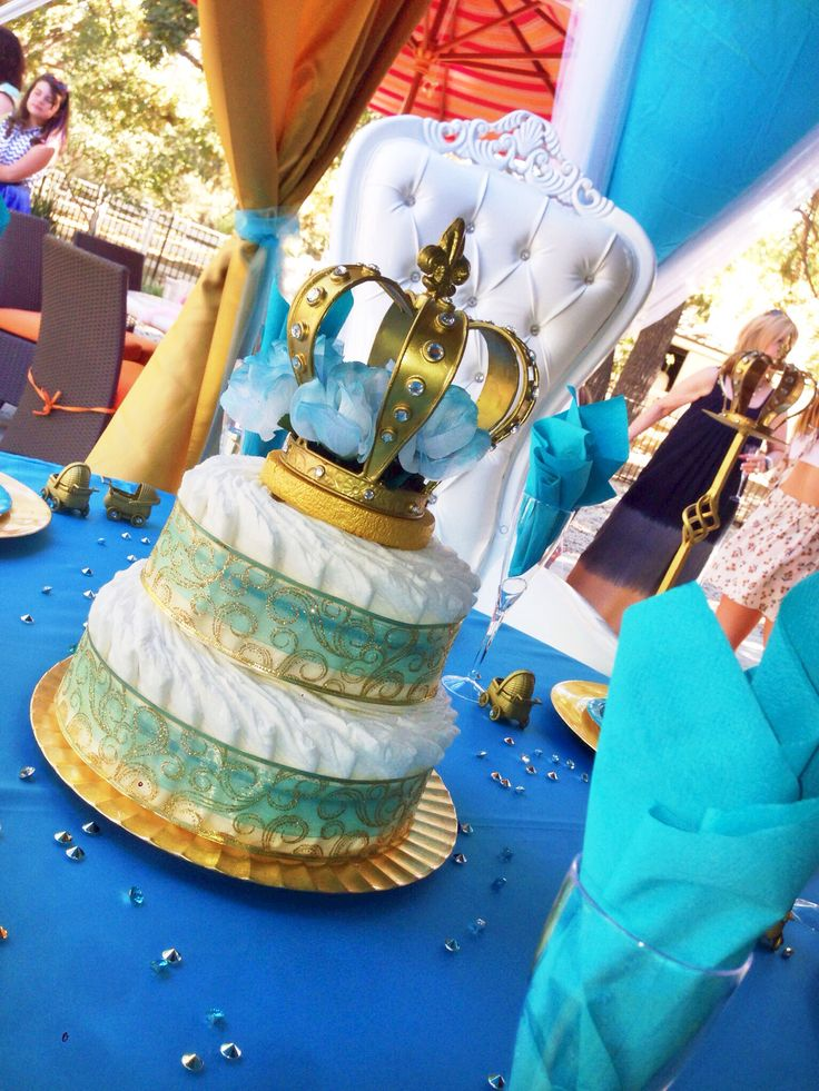 alexis royal baby shower diaper cake