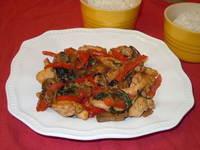 Chicken Basil Stir-Fry | Cooking at Home | Pinterest