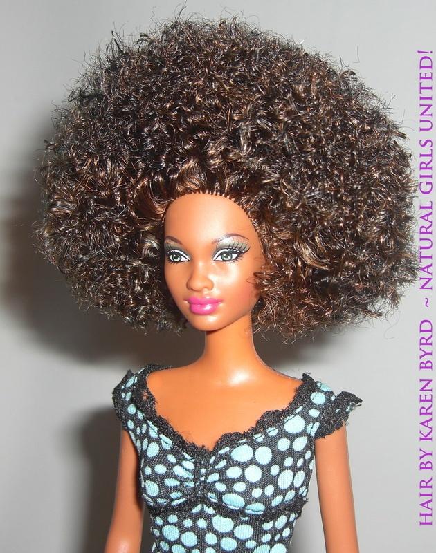 Curled doll hair