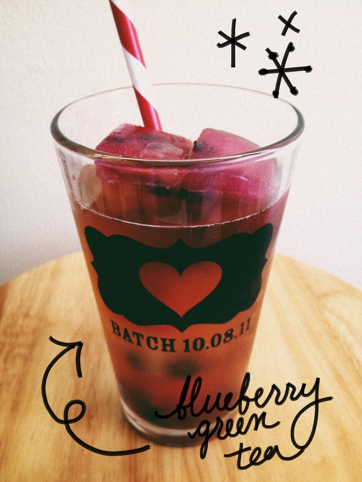 Iced Blueberry Green Tea | Recipes | Pinterest