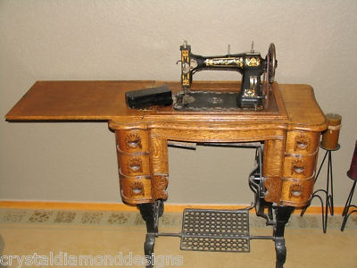 white treddle sewing machine