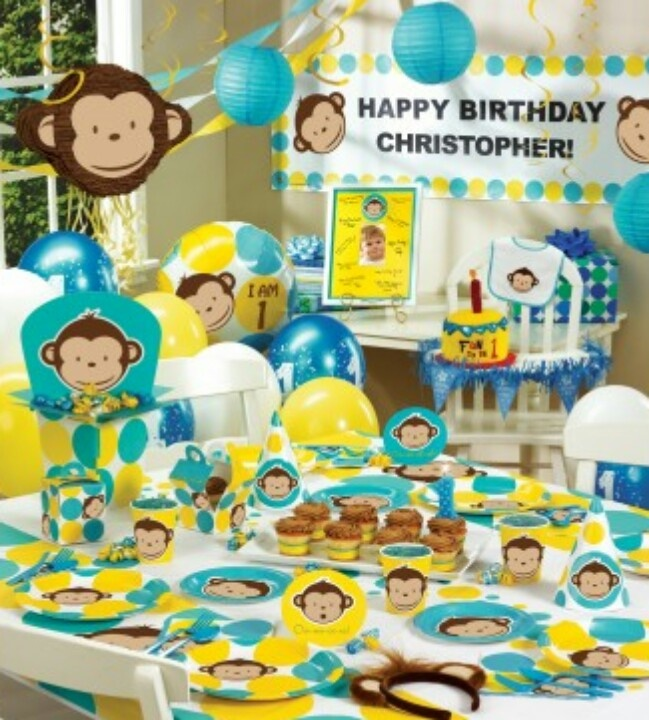 Monkey theme 3rd choice first birthday ideas pinterest for 1st birthday decoration ideas for boys
