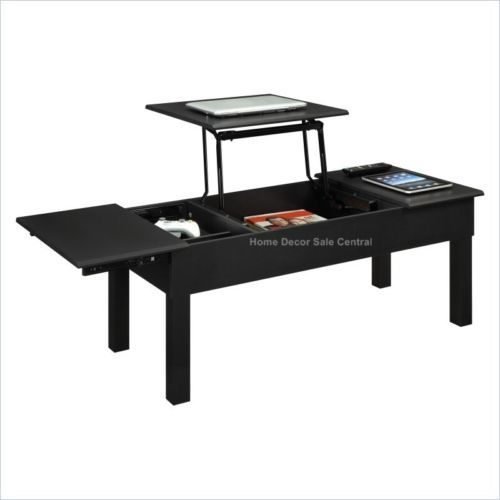New black lift top rising pop up coffee table c2 Black lift top coffee tables