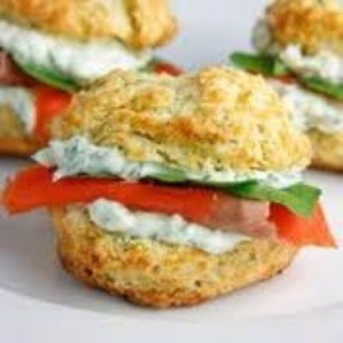 Herbed Biscuit With Smoked Salmon And Creamy Chives Spread | Travis ...