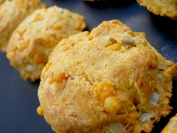 Cheddar scones --turned out really salty. Cut the salt in half (esp ...