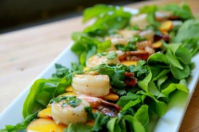 SHRIMP, PEACH, AND FENNEL SALAD Perfect with those late summer peaches ...