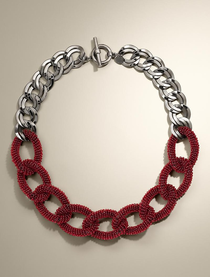 talbots beaded link necklace jewelry