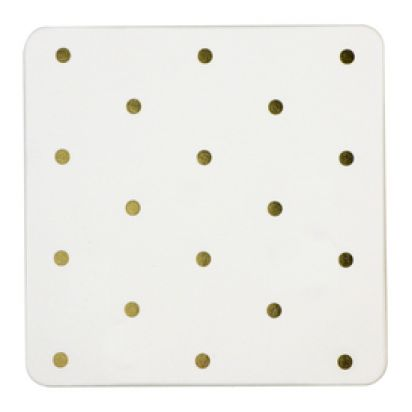 Gold Polka Dot coasters