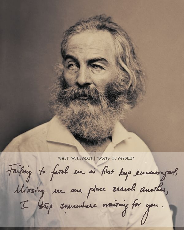 "song of myself by walt whitman Song of myself has 10,253 ratings and 285 reviews cheri said: now availablewalt whitman's poem, which would eventually become ""song of myself,"" had n."