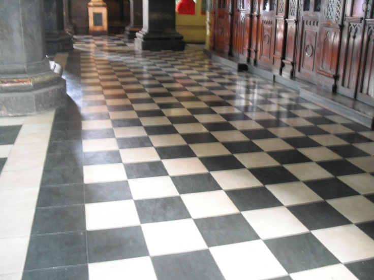 Gothic remains stunning for Black and white check floor