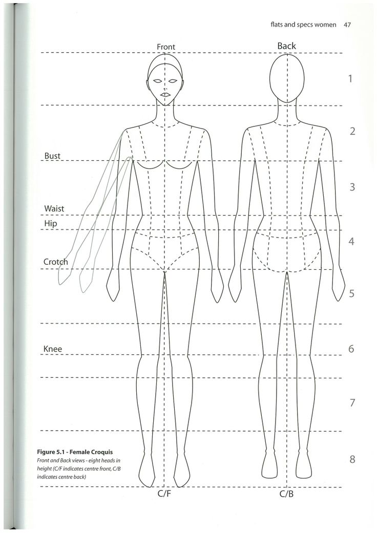 ... croquis | Female Croquis (figure template, body template) | Pinterest