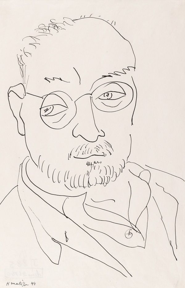 Line Drawing By Matisse : Self portrait hi res g life drawing
