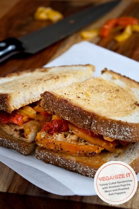 ... Chicken Cutlet Sandwiches with Smoked Paprika Mayo and Roasted Bell