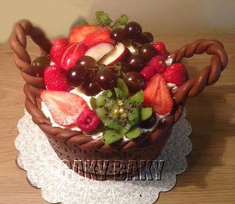 Strawberry basket cake | From my kitchen | Pinterest