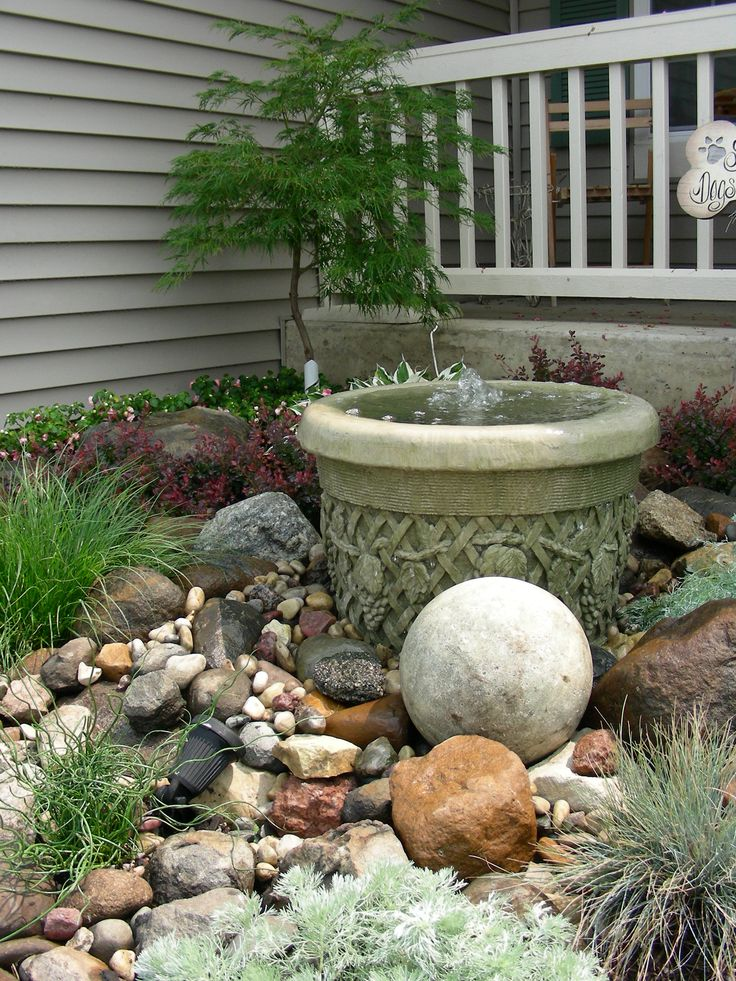 Small rock garden and fountain waterfall creations Small rock garden