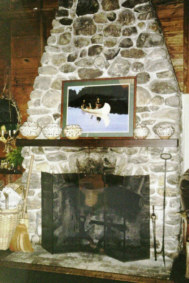 Rustic Stone Fireplace Foster Pinterest