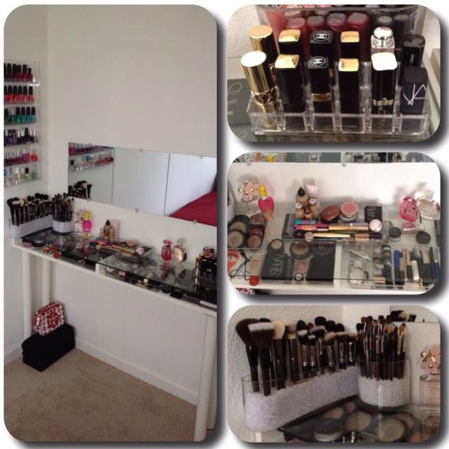 diy vanity storage shelving pinterest