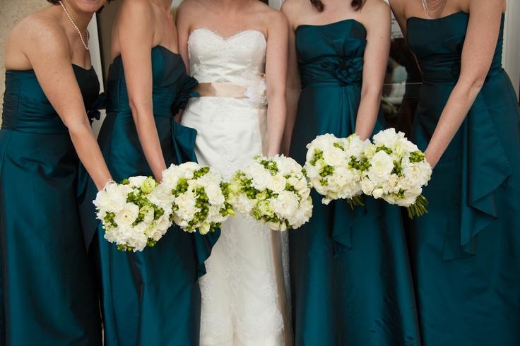 Dark Teal Bridesmaid Dress