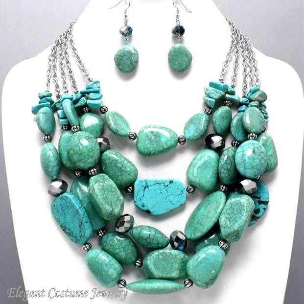 i chunky turquoise necklace my style