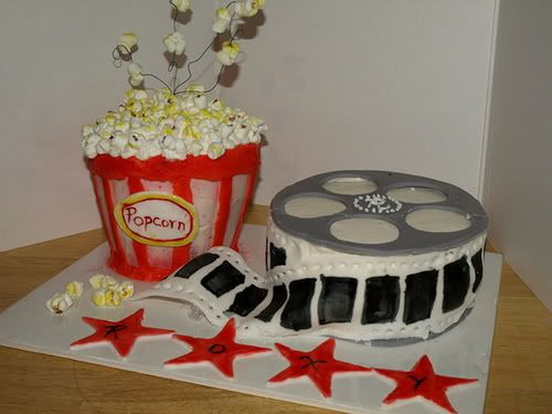 movie theme cake birthday fun Pinterest
