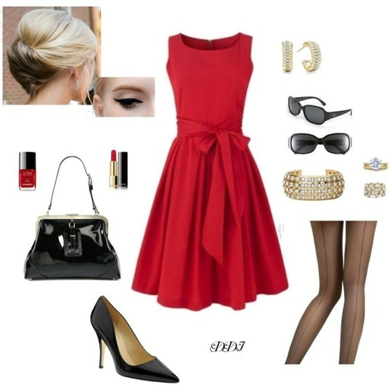 Sexy modern red 50 s outfit my style pinterest