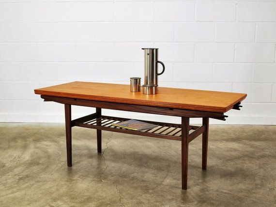 height adjustable coffee dining table in teak and by