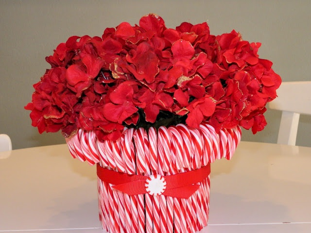 Christmas candy cane centerpiece tutorial