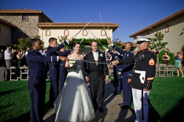another outdoor saber arch | Photography Military Wedding | Pinterest: pinterest.com/pin/285978645059507123