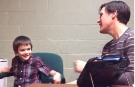 This music therapy video with a child with autism illustrates the following: Tailoring education and therapy to a child's learning style can help them succeed Combining music and movement can be highly engaging and motivating for a child with special needs Create personalized movement songs by putting your own words to a traditional melody such as ...