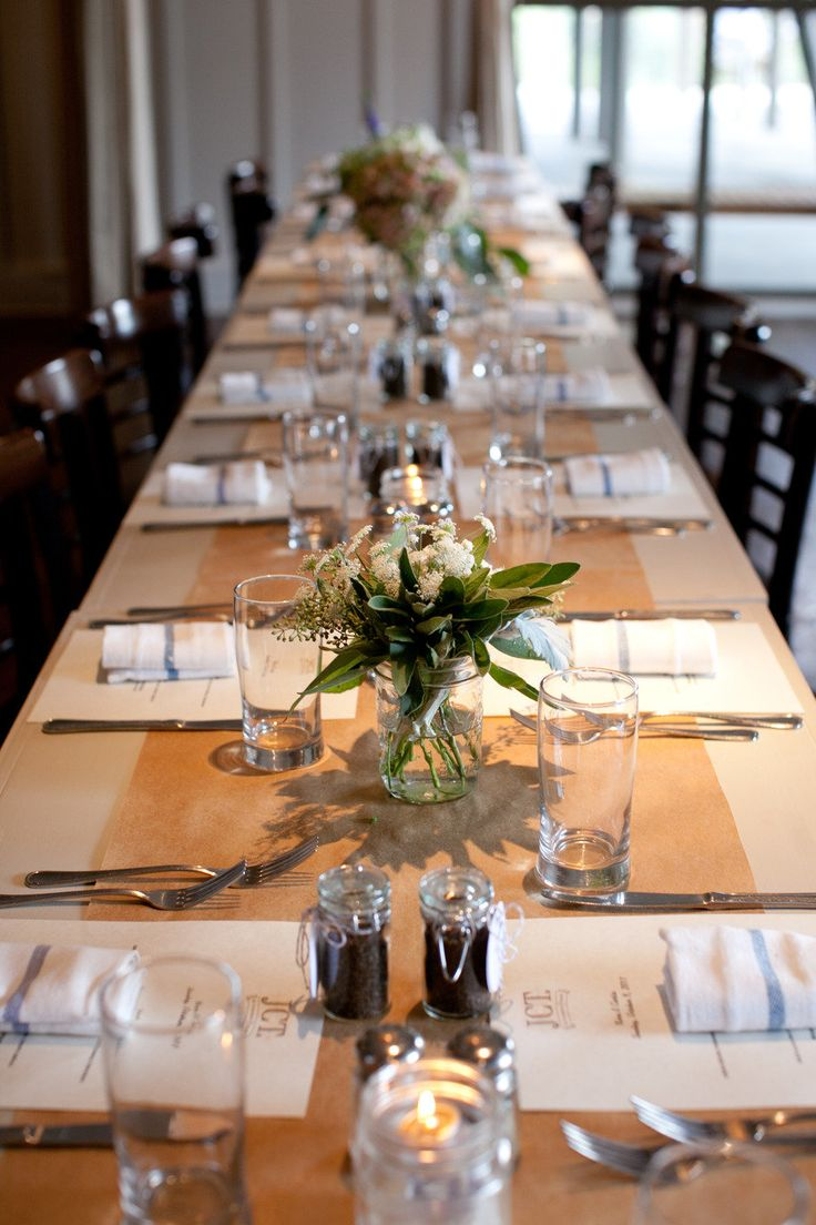 Table Decorations For Wedding Rehearsal Dinner Photograph