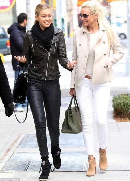 Gigi Hadid and Yolanda Foster..
