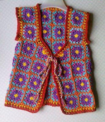 Free Crochet Granny Square Vest Patterns : lovely granny square vest CRoChET Pinterest