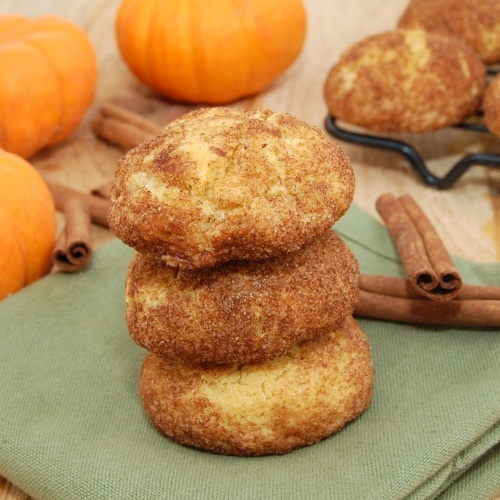 Pumpkin Snickerdoodles...chewy soft pumpkin goodness rolled in sugar ...