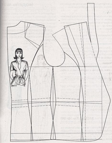 patronaje - blusa