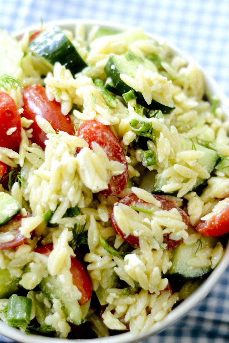 Greek Orzo Salad with Mustard-Dill Vinaigrette Bobby Flay | Recipe