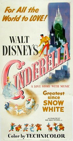 Cinderella original poster, circa 1950 >> can't help but love this...