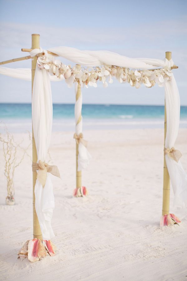 Love This Tropical Beach Wedding Arch
