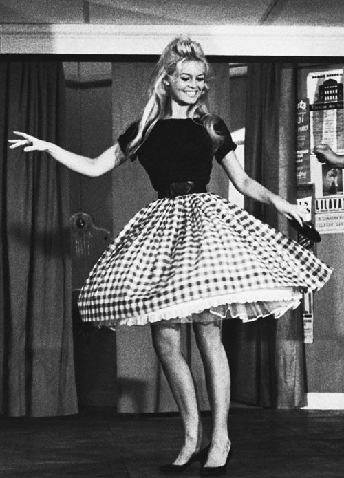 Brigitte Bardot does the cha-cha in the movie Will You Dance With Me?, 1959