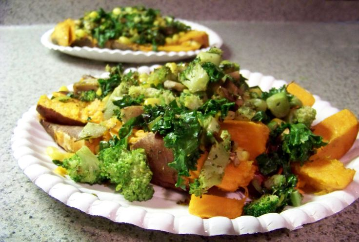 Vegetable Loaded Baked Sweet Potatoes | Healthy Recipes | Pinterest